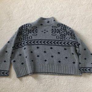 anthropology grey sweater